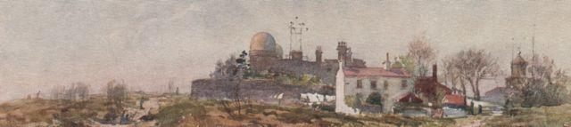 1909 watercolour of Bidston Hill