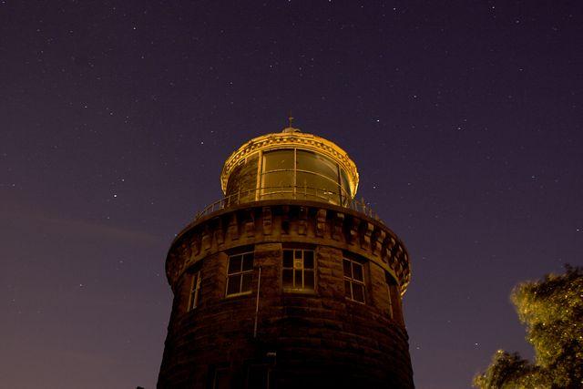 Bidston Lighthouse at night