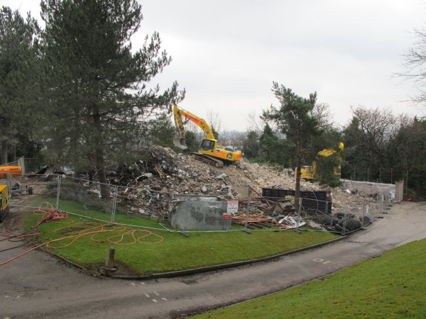 Joseph Proudman Building reduced to Rubble