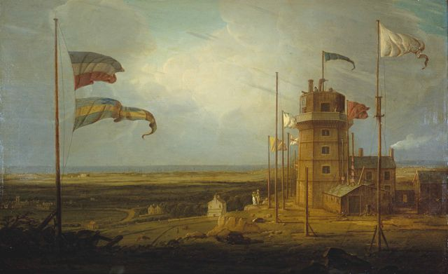 Bidston Lighthouse by Robert Salmon, Oil on Canvas, 1825. Courtesy of National Museums Liverpool.