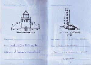 Lighthouse Passport with stamps for Bidston and Leasowe.