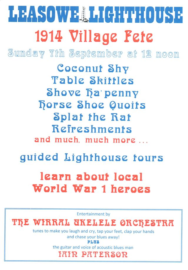 Poster for Leasowe Lighthouse - 1914 Village Fete