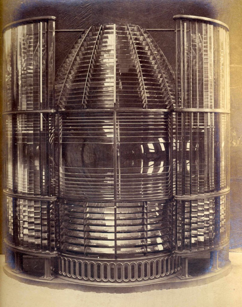 1st order dioptric lens with vertical condensing prisms, made for Bidston Lighthouse