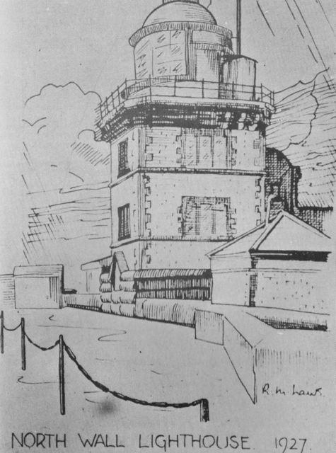 Drawing of North Wall Lighthouse in 1927