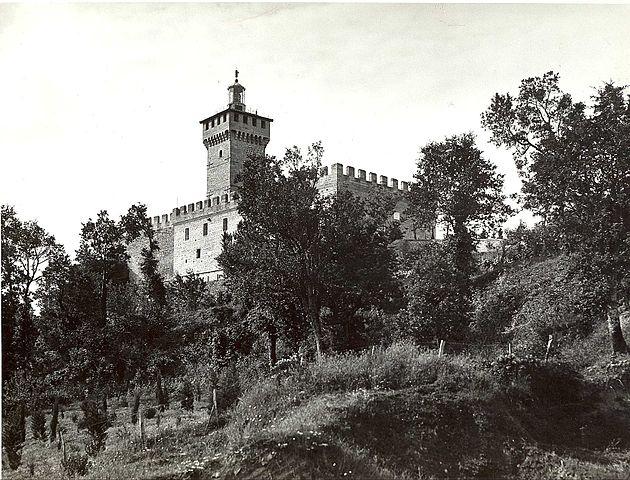 Rocca delle Caminate in 1939. Photo by E. Zoli Forlì.
