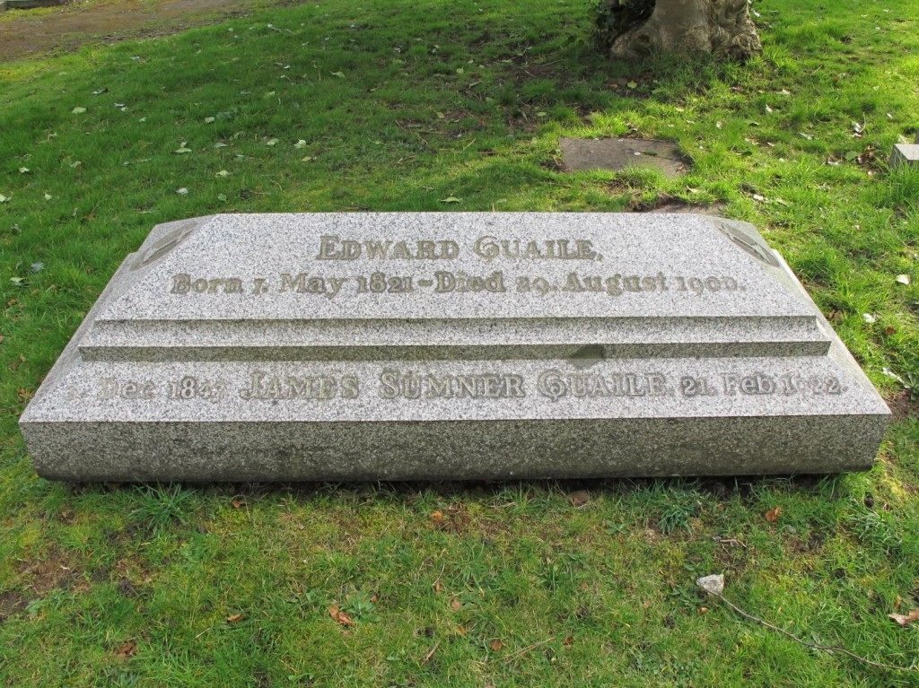 Grave of Edward Quaile, in Flaybrick Cemetery