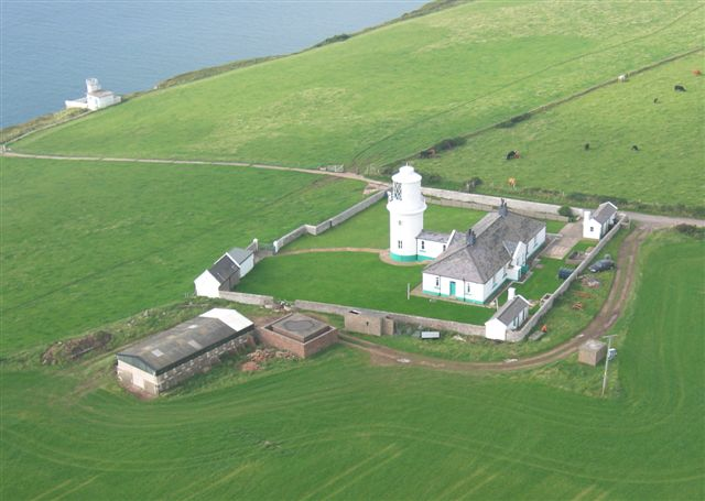 Aerial view of St Bees Lighthouse from the Visit Cumbria website
