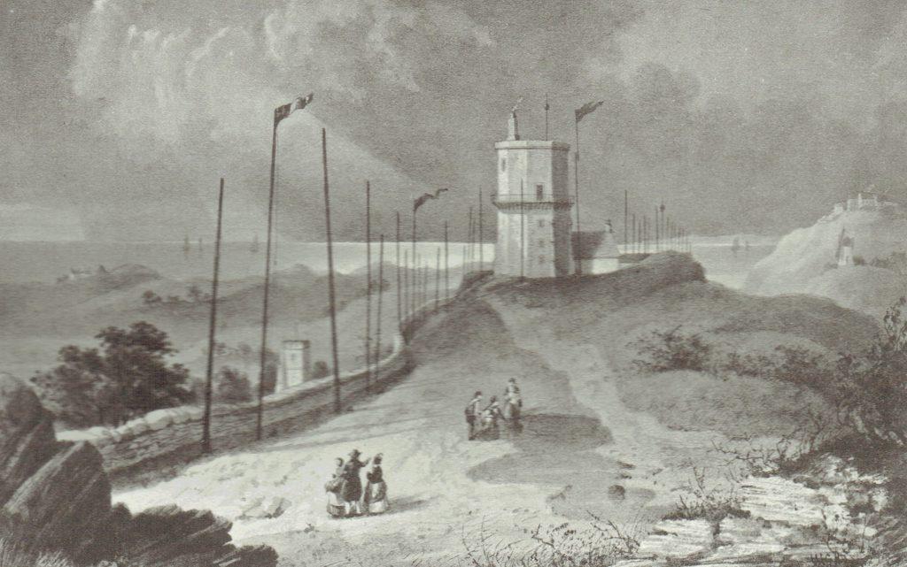 "Bidston Hill ""Observatory"" 1830 by W. G. Herdman"